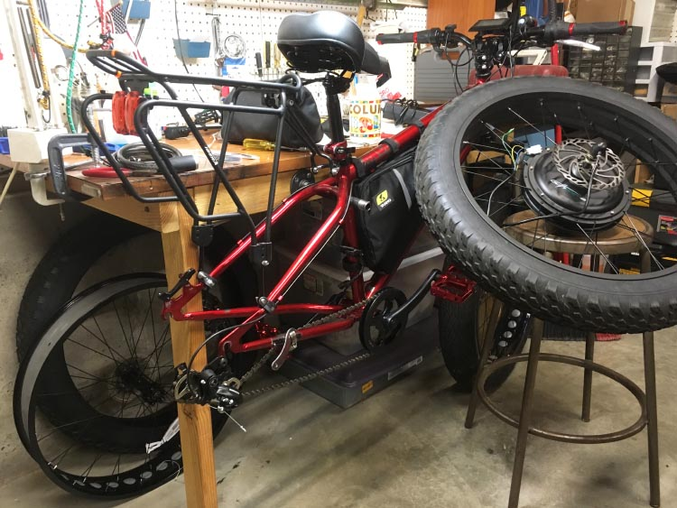 Bob Seible started with a heavy duty bike he bought on eBay, and then upgraded many of the components. You can read about how he built his own dream bike here
