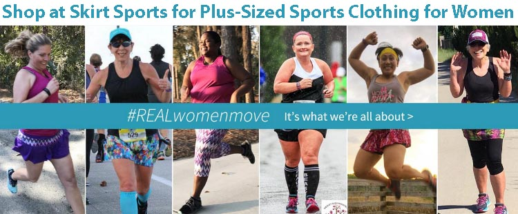 A Guide for Fat Cyclists. Skirt Sports sells plus sized clothing for women athletes