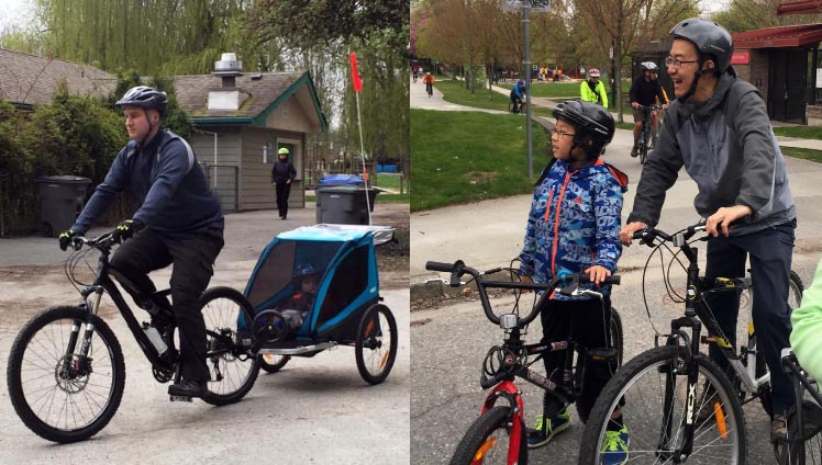 The pace of the Bike the Blossoms ride makes it very family friendly