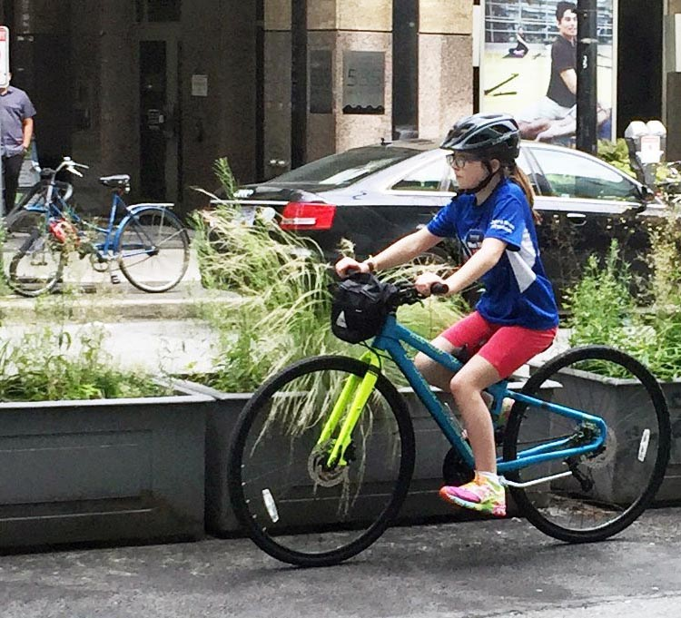 """A bicycle way that is not safe for an eight-year-old is not a bicycle way."" This means the routes are not only safe, but they are forgiving, obvious to use, and inspire confidence."
