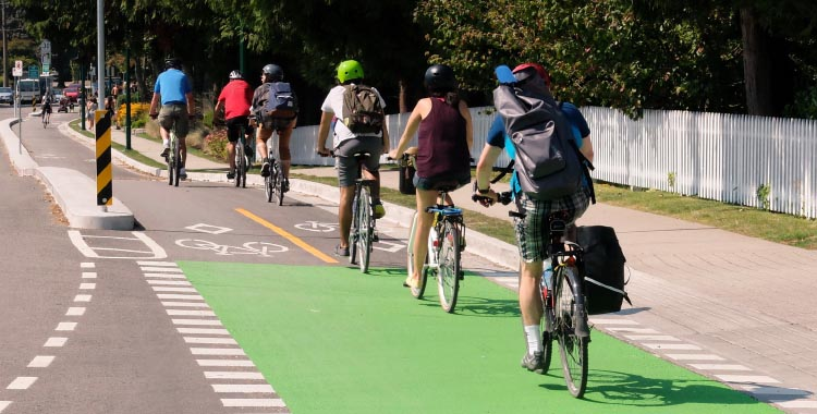Cycle highways are continuous paved and lit paths, are separated from pedestrians and motor vehicles, and suitable for people of all ages and abilities - UnGap the Map
