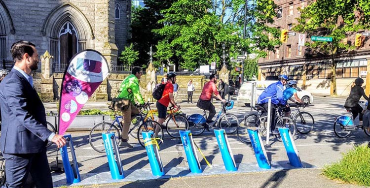 The City of Vancouver's recent Walking and Cycling scorecard illustrated an active city in which half of the population already reach their destination by bike, foot or transit, something that businesses welcome