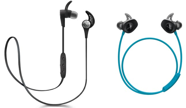On the left are Jaybirds X3 (also available in several other colors): on the right are Bose Soundsports (also available in black). Which are better for you? Bose SoundSport Wireless Headphones vs Jaybird X3 Sport Headphones