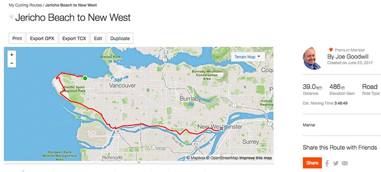 How to Create a Route on Strava and Follow it on Your Smart Phone or Garmin Edge Bike Computer. Here is a custom bike route that I made within a few minutes on Strava