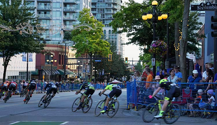 Everyone was having fun; everyone was awed by the speed and skill of the cyclists. New Westminster Grand prix a great success