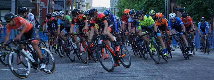 And here are some of the men, on the same corner from Carnarvon Street into 6th Street. First New Westminster Grand Prix a Huge Success