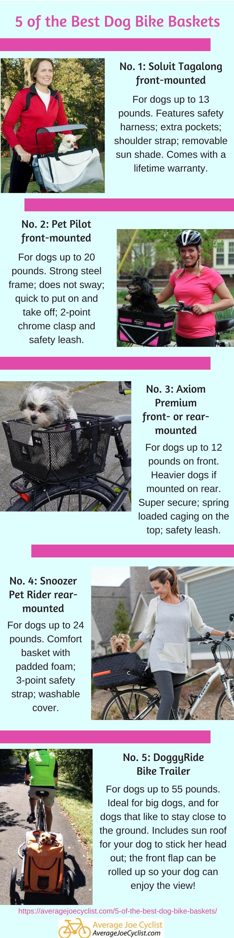 5 of the best dog bike baskets compared