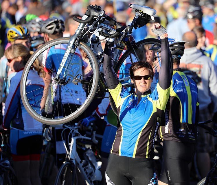 """Jocelyn Dickie: """"Since 2008, the Ride to Conquer Cancer series has raised over $364 million for cancer research across the country. However, there is still work to be done in the fight to conquer this thing! It's not too late to join!"""""""