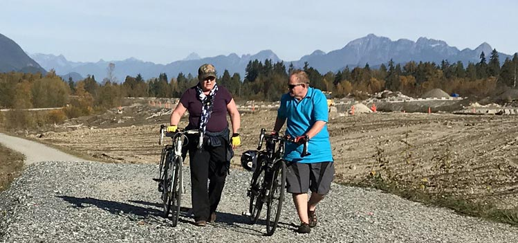 A Guide for Fat Cyclists. I am not exactly your stereotypical cyclist with the body of a greyhound. However, I don't let my weight stop me from cycling. This was a 15-mile cross-country ride I did with my wife, Maggie. We are pushing our bikes here because we were on loose gravel