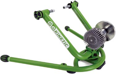 5 of the Best Indoor Bike Trainers. The Kinetic Rock and Roll Smart Control bike trainer is like the Kinetic Fluid Trainer at the top of this post, only much better and more fun!