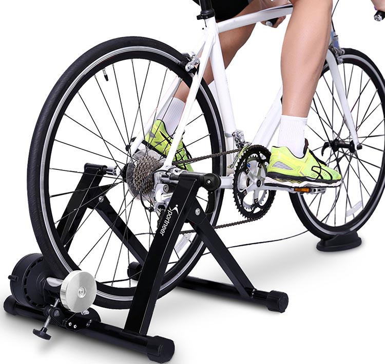 What is a Smart Turbo Indoor Trainer? This is the Sportneer Bike Trainer Stand. It is a budget option that enables you to turn your own bike into an indoor trainer