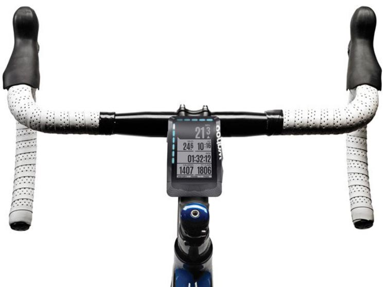 Garmin Edge 520 vs. Wahoo ELEMNT. Both the Garmin Edge 520 and the Wahoo ELEMNT can be mounted on the cross bar or on your handlebars, on an out-front mount (not pictured)