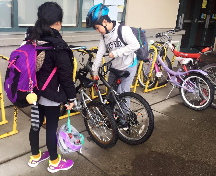 Bike to school week BC is coming soon. Biking to school is one of the best ways to incorporate healthy activity into the school day