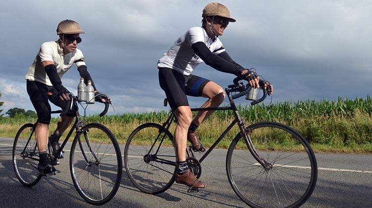 Phil Keoghan's Amazing BIKE Race: Phil Keoghan with fellow cyclist. Photo by Doug Jensen