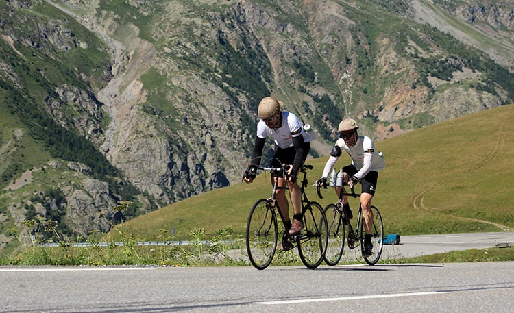 Phil Keoghan's Amazing BIKE Race: Phil Keoghan with fellow cyclist. Photo by Doug Jensen
