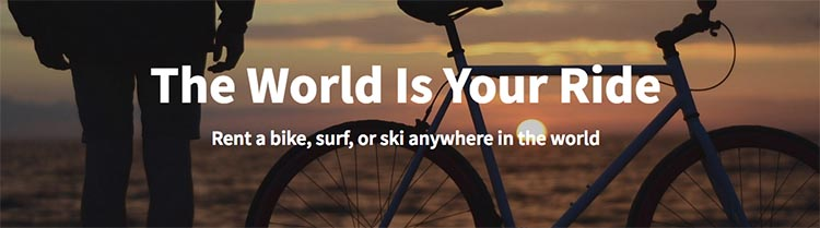 Ridehunting has created a global virtual community rental market for all cyclists, surfers, boarders, and skiers who want to rent equipment, or rent it out.