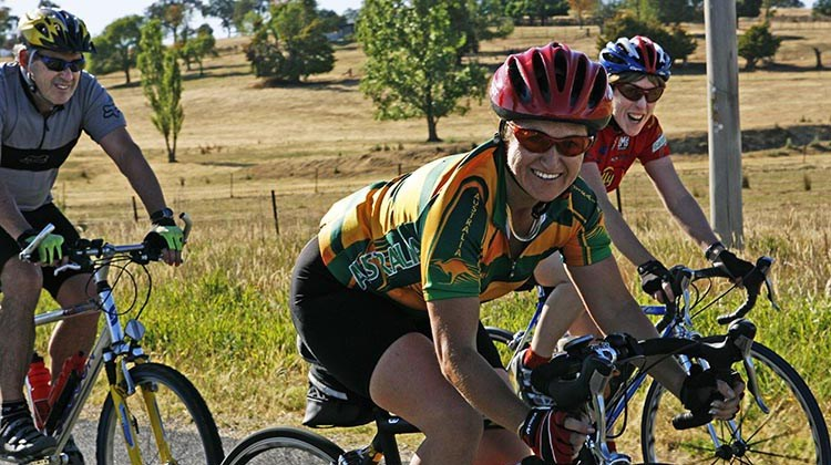 The Great Victorian Bike Ride is fun and a social way to see Australia. Photo credit: Bicycle Network