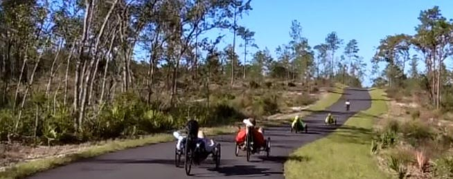 7 Benefits of Recumbent Trikes. It is great fun to go cycling the trails with a group of recumbent tricyclists!
