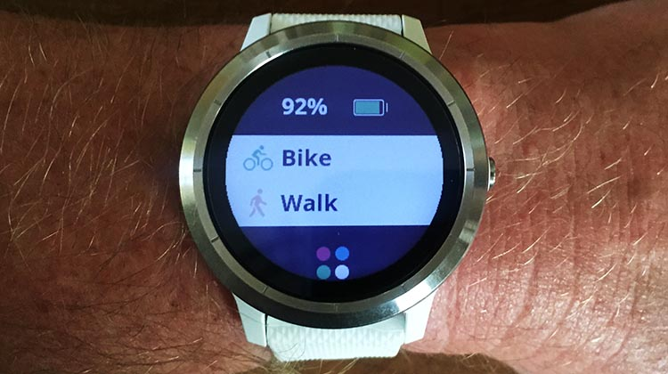 How to Record a Bike Ride with Your Garmin Vivoactive 3. My Garmin Vivoactive has a button on the right-hand side