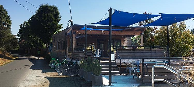 Saint Helen's Café is situated right on the Burke-Gilman Café
