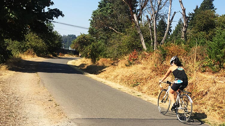 The Burke-Gilman Trail is a former railroad right-of-way, and as such is quite flat, with not too many intersections