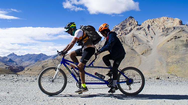 Adventures Beyond Barriers Foundation. Tandem bikes make it possible for people who cannot see to enjoy the thrill of cycling