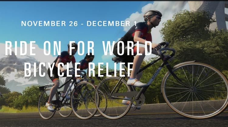 "World Bicycle Relief and Zwift Seek to Make Biggest Impact Yet in Week-Long ""Ride On for World Bicycle Relief"" Virtual Charity Ride Nov. 26 to Dec. 1"