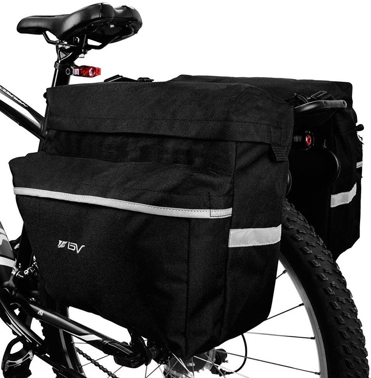 Smoking Hot Year-end Cycling Deals. The BV Bike Bag Bicycle Pannier is a great set of bike panniers for a bargain price