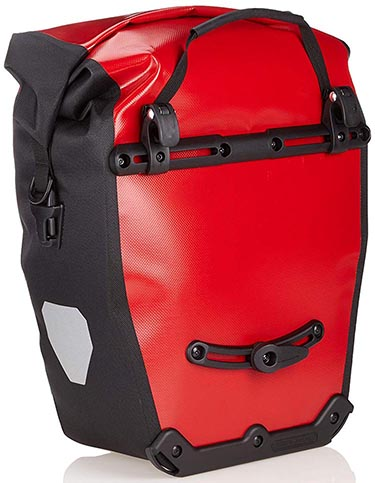 Best Waterproof Bike Panniers for Touring and Commuting - Ortlieb Bike Panniers: The mounting system on an Ortlieb Back-Roller City Pannier
