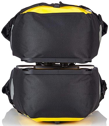 Best Waterproof Bike Panniers for Touring and Commuting - Ortlieb Bike Panniers: Two Ortlieb Back-roller Classic Panniers joined together for carrying