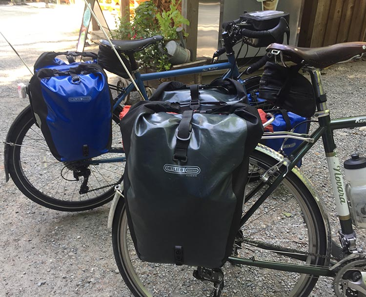 A lot of people have figured out that Ortlieb panniers will keep your stuff safe and dry, even over long distances