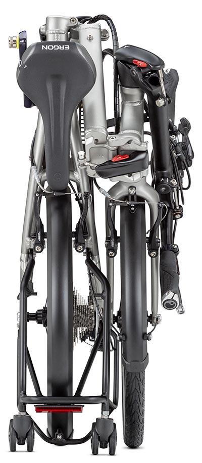 Here is the Tern folding bike, all folded up!