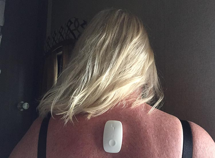 Here I am wearing the Upright Go