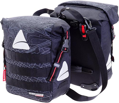 Axiom Monsoon Aero DLX Panniers - good looking panniers for stylish cycling