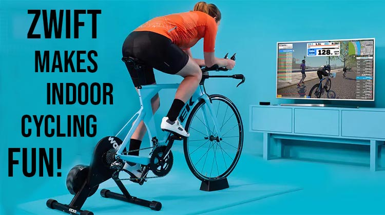 Zwift makes indoor cycling fun!