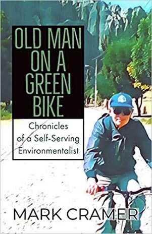Old Man on a Green Bike by Mark Cramer