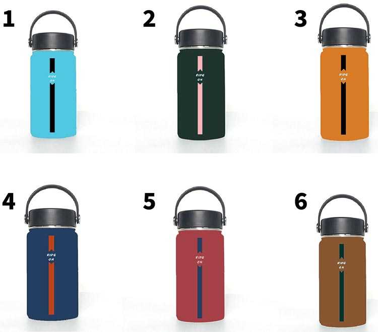 Proposed colors for the new cycling flask