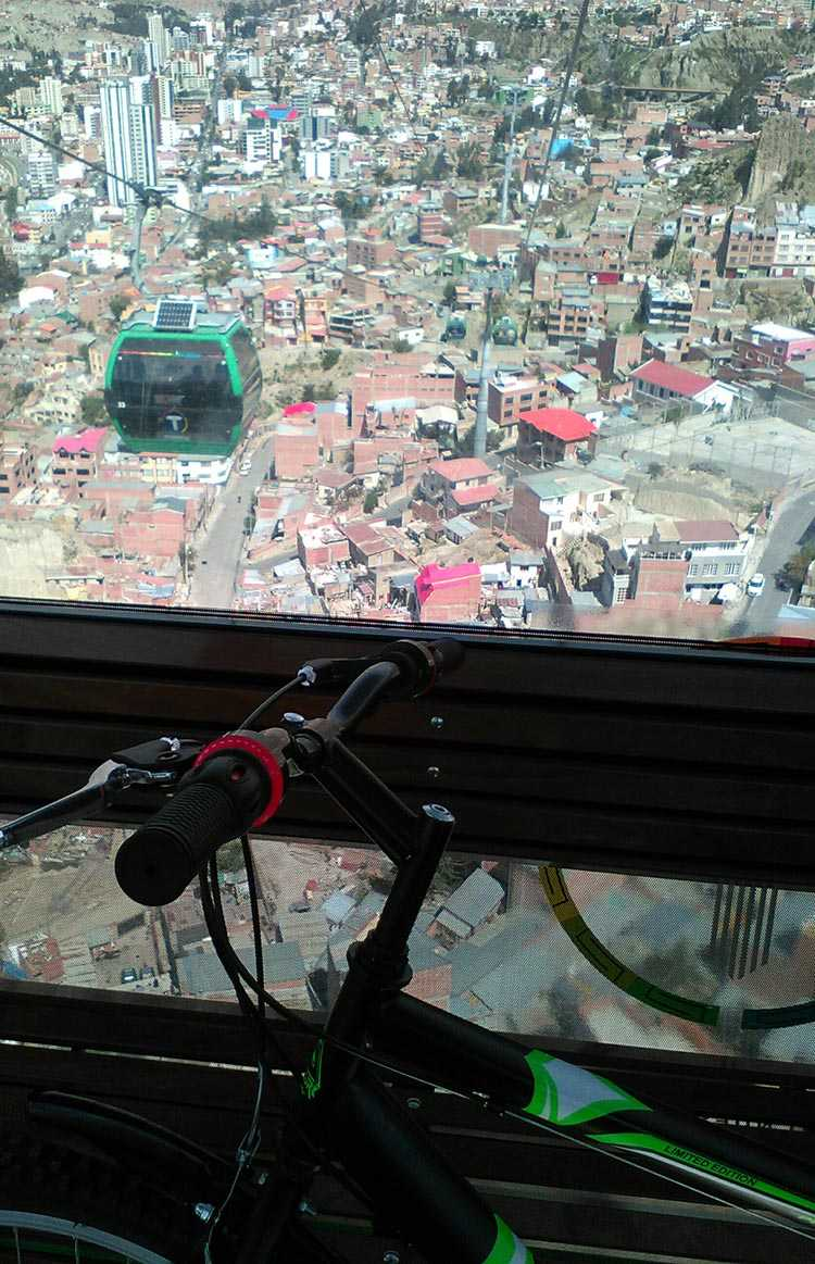Using blended tips can have some spectacular advantages. Here is the view from the La Paz cable car