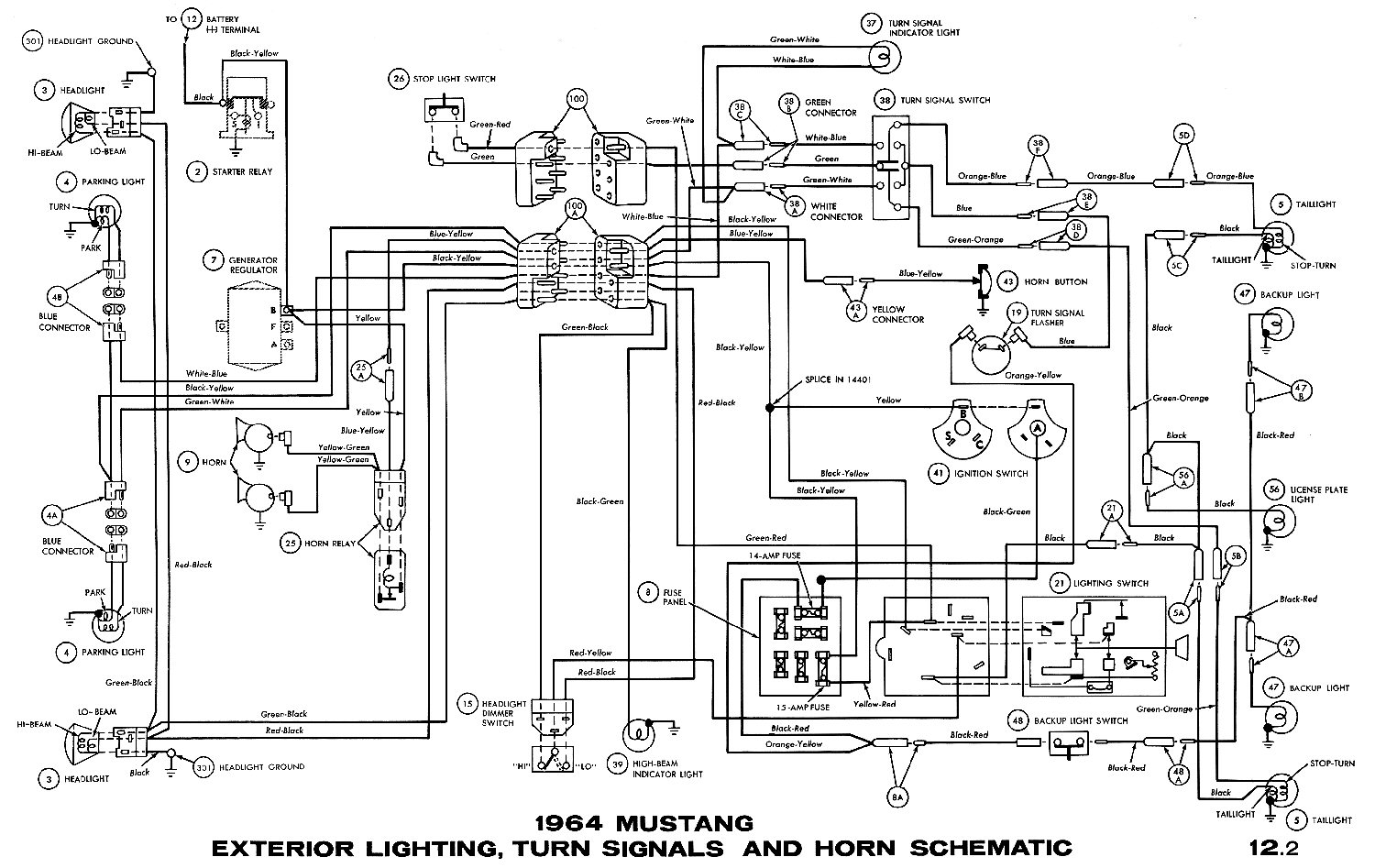 1964i?resize=665%2C420 66 mustang ignition wiring diagram mustang headlight wiring,1972 Mustang Ignition Wiring Diagram Schematic
