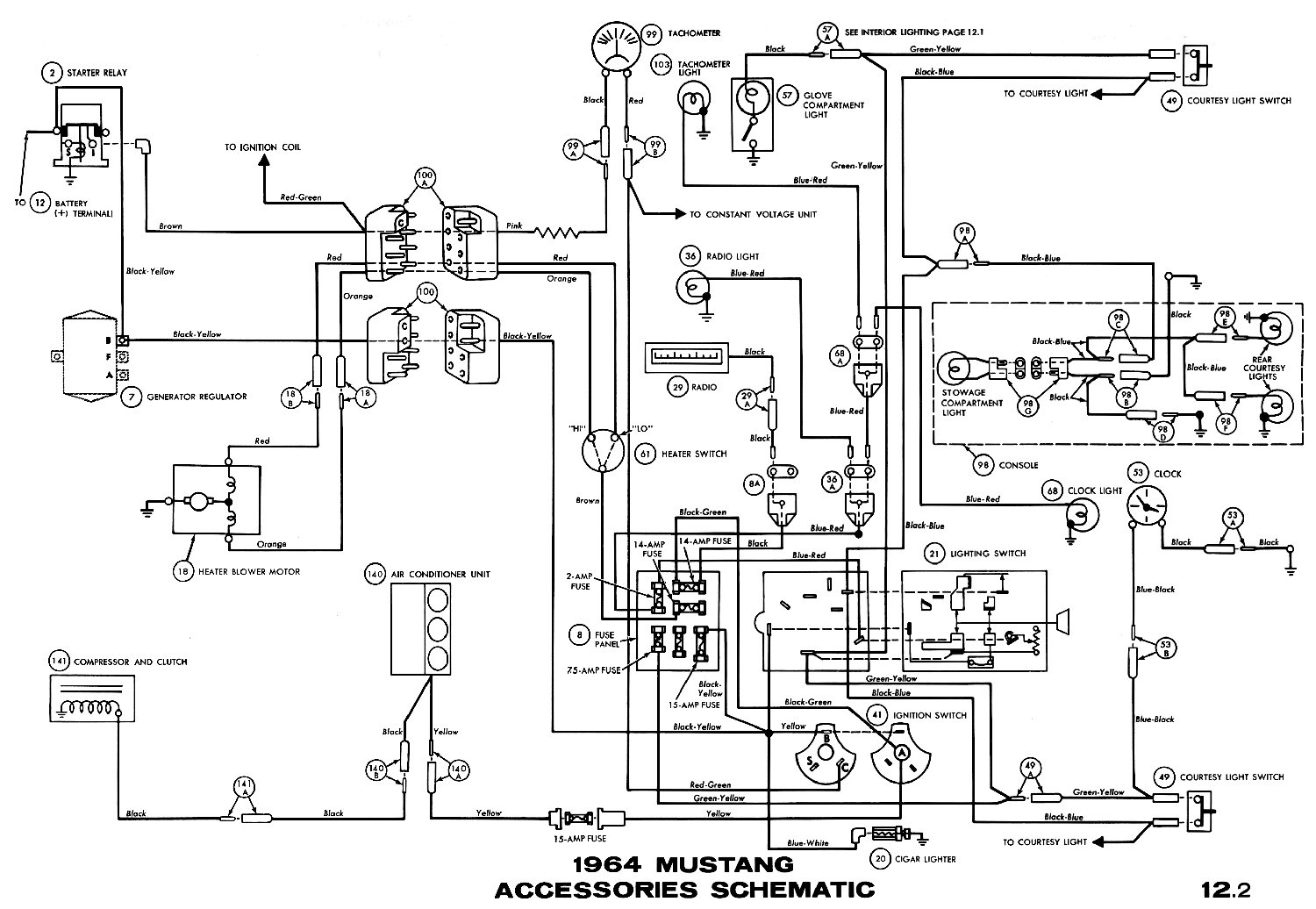 65 Mustang Radio Wiring Diagram