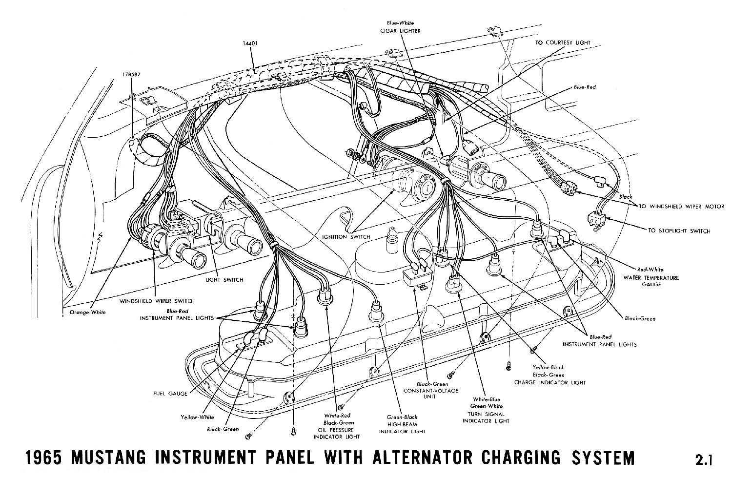 Mustang Wiring Harness Schematic