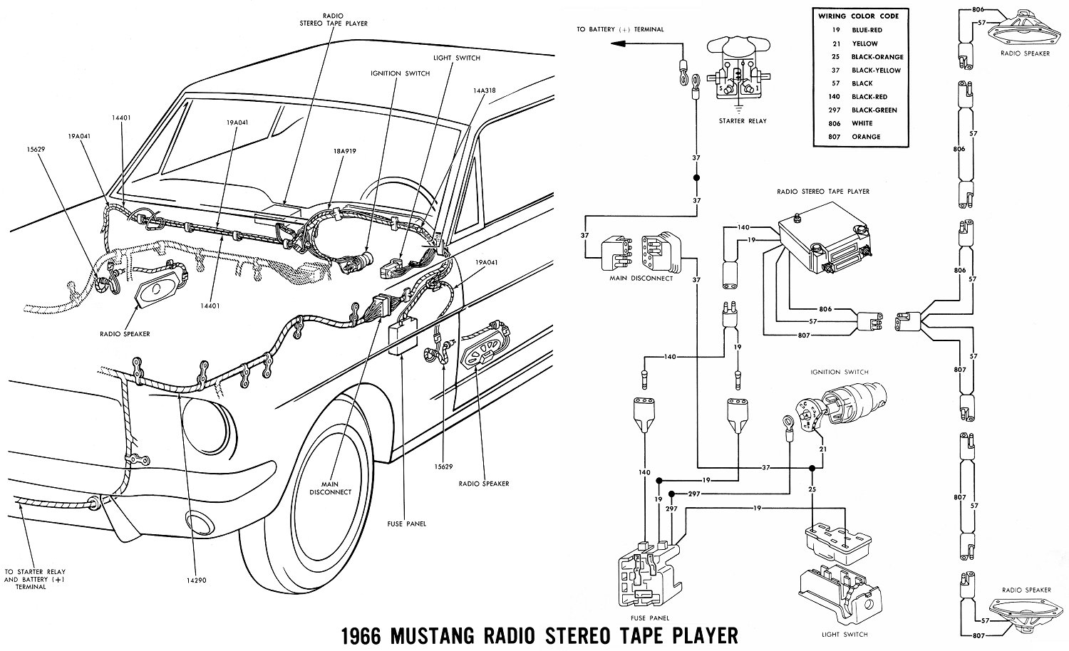 69 Ford Radio Wiring Diagram