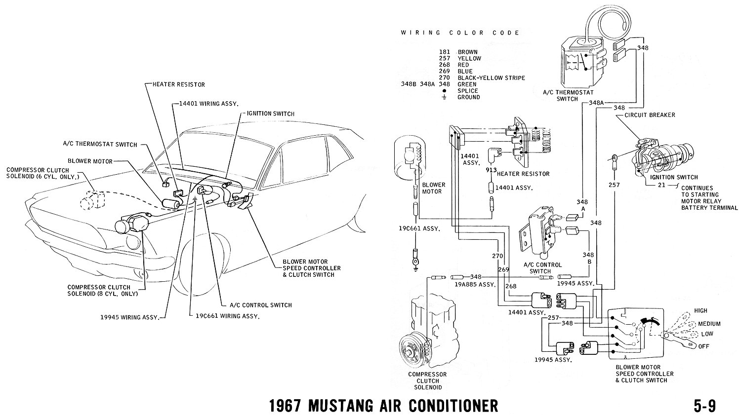 67 mustang wire harness