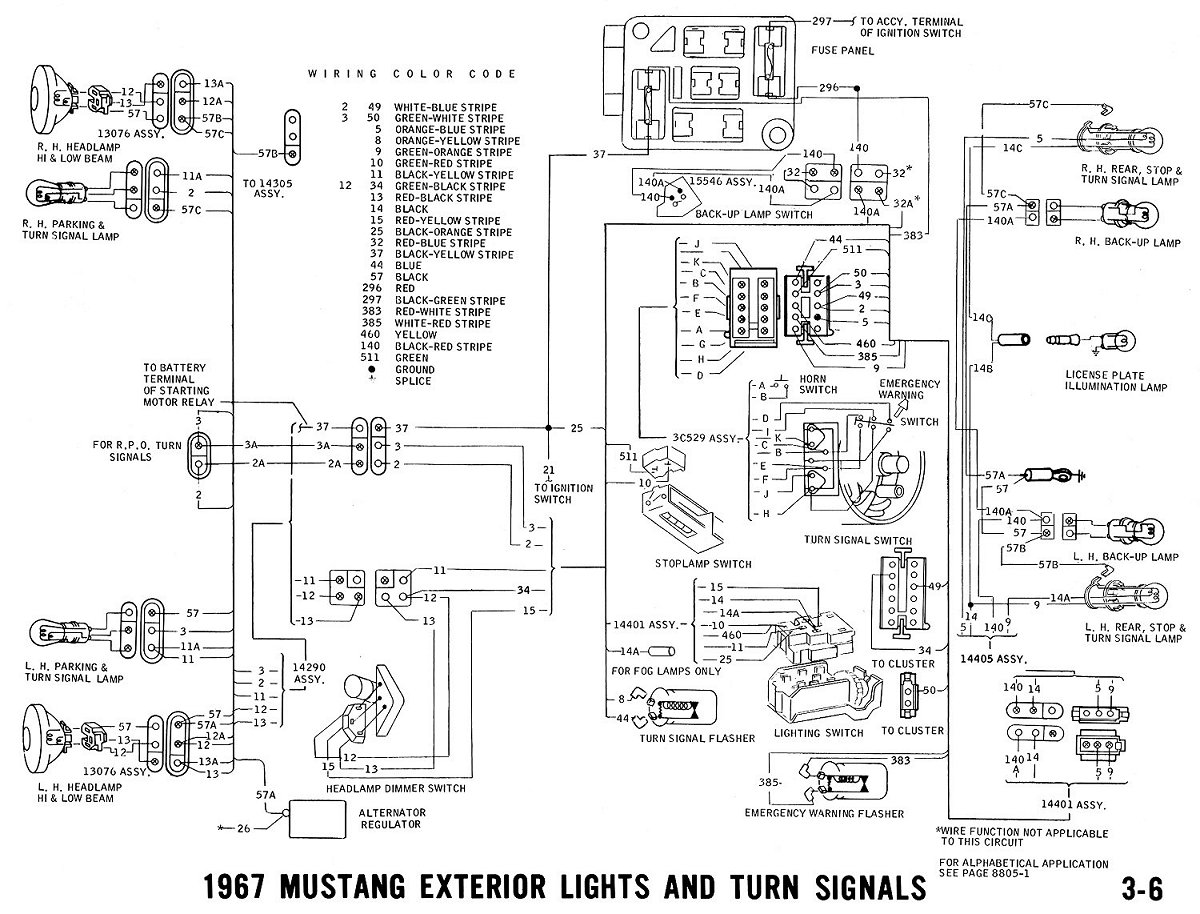 1966 Mustang Parking Brake Diagram