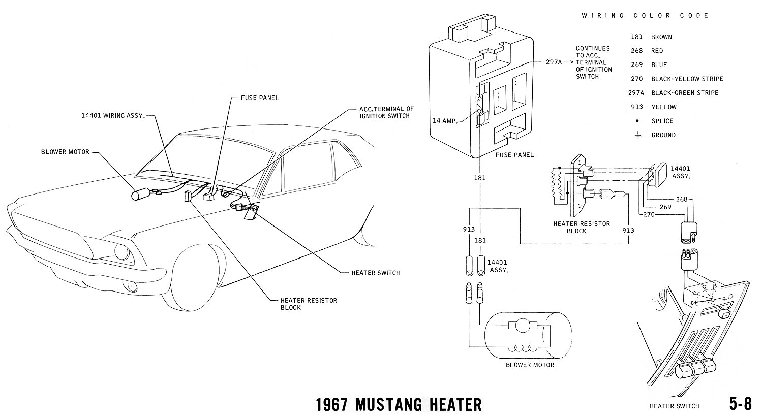 92 Mustang Blower Motor Wiring Diagram