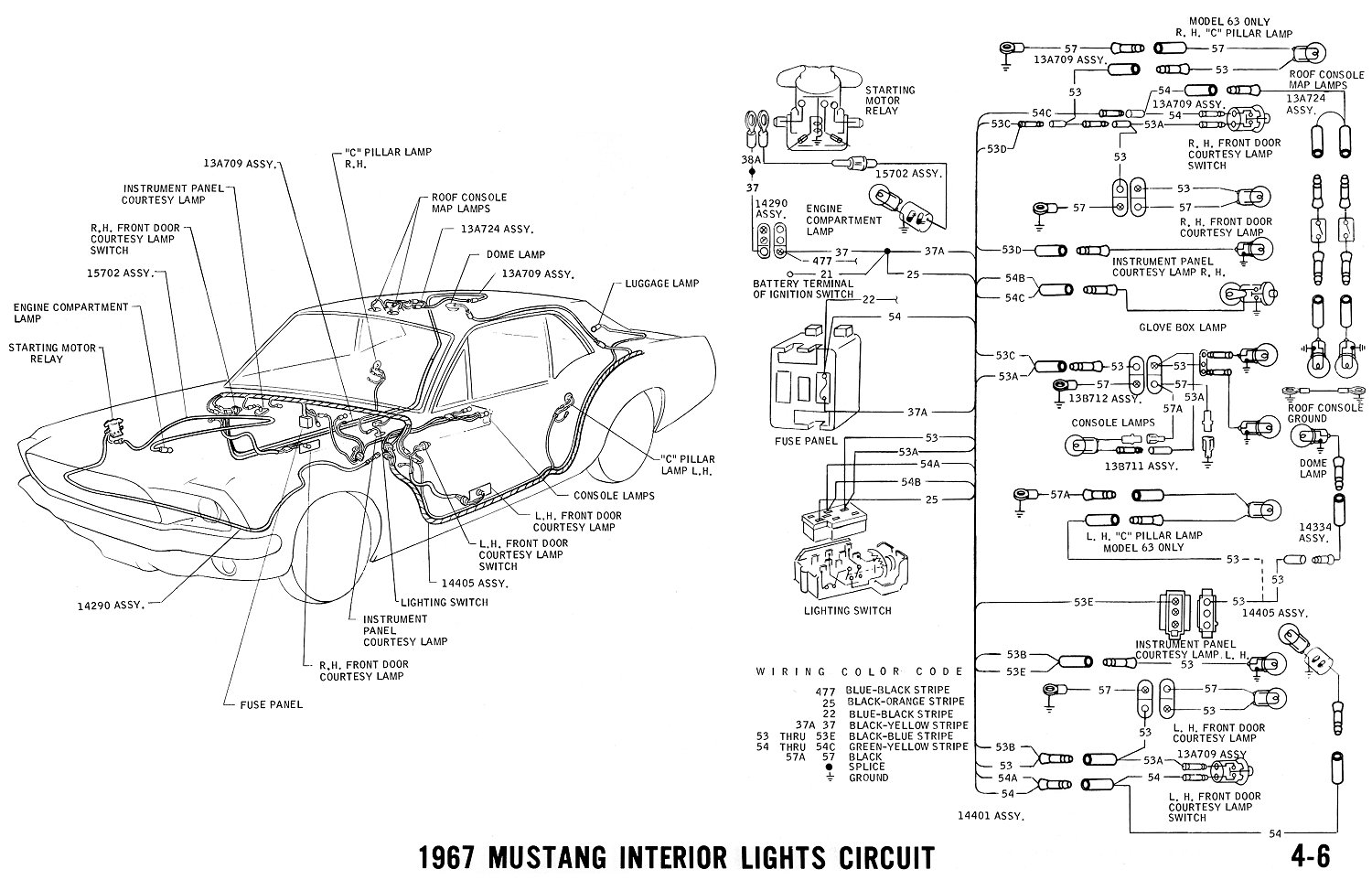 Mustang Courtesy Light Wiring Diagram