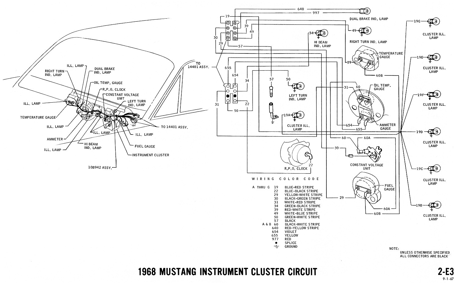 67 Mustang Headlight Wiring Diagram