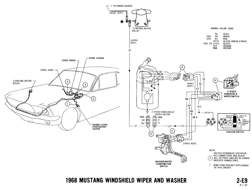1967 ford mustang ignition wiring diagram images. 1968 mustang, Wiring diagram