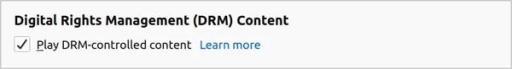 Enabling DRM in Firefox