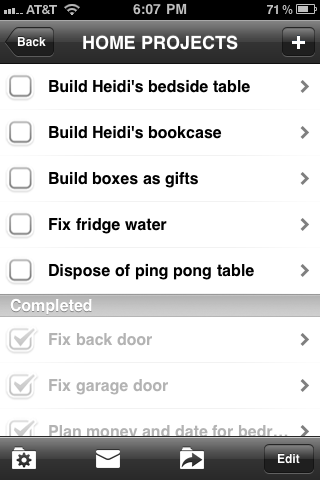 Paperless Checklist Screen